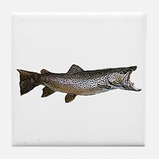 Brown trout Tile Coaster