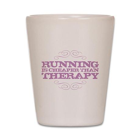 Running is Cheaper than Thera Shot Glass