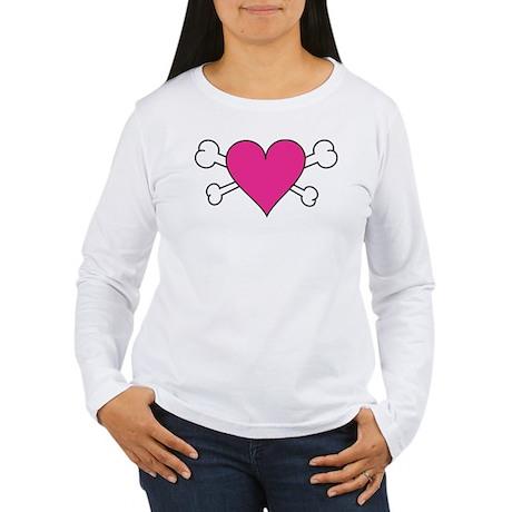 Skull Heart Women's Long Sleeve T-Shirt
