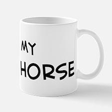 I Love Pleven Horse Mug