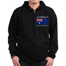 Australian Flag Zip Hoody