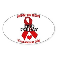 red friday with ribbon Decal