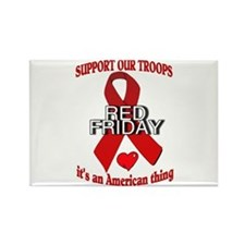 red friday with ribbon Rectangle Magnet