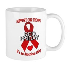 red friday with ribbon Mug
