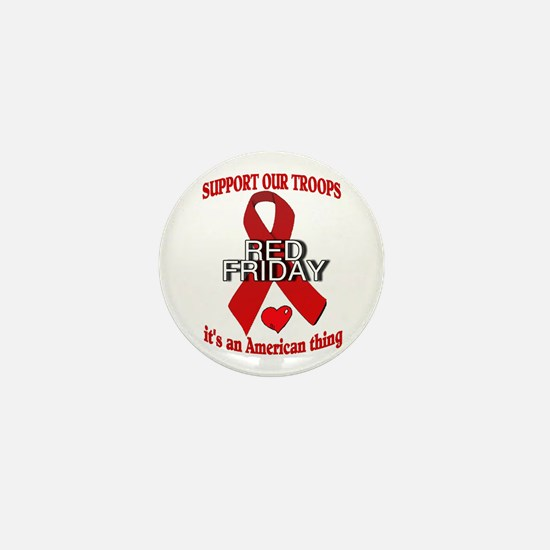 red friday with ribbon Mini Button