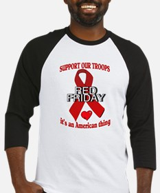 red friday with ribbon Baseball Jersey