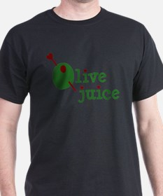 Olive Juice (I Love You) Black T-Shirt