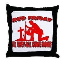 red friday prayer Throw Pillow