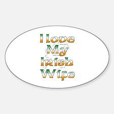 I Love My Irish Wife Oval Decal