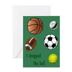 Dropped the Ball Belated Birthday Greeting Card