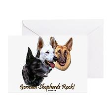 German Shepherds Rock Greeting Cards (Pk of 20)