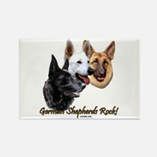 German Shepherds Rock Rectangle Magnet (100 pack)