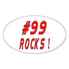 99 Rocks ! Oval Decal