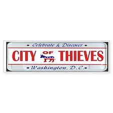 BRIBE CITY Bumper Sticker