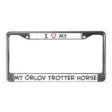 I Love Orlov Trotter Horse License Plate Frame