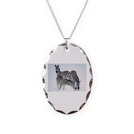 Animal Necklace Oval Charm