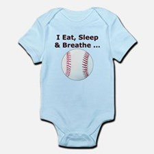 Eat, Sleep, Breathe Baseball Infant Bodysuit