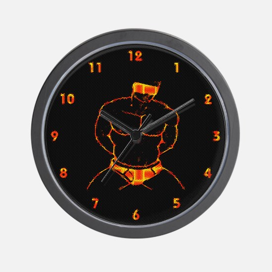 BLINFOLDED_SUBMISSION orange Wall Clock