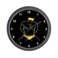 BLINFOLD_SUBMISSION yellow/blk Wall Clock