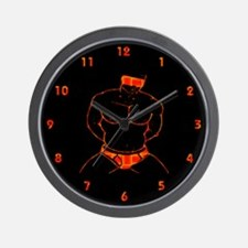 BLINDFOLD_SUBMISSION RED-yellow/blk-Wall Clock