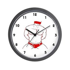 BLINDFOLD_SUBMISSION RED/WHITE- Wall Clock