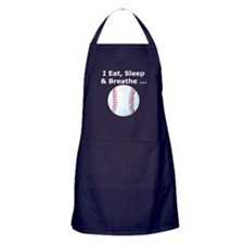 Baseball Eat Sleep Breathe Apron (dark)