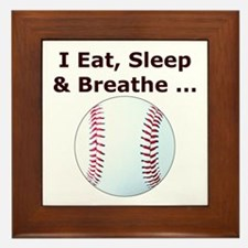 Baseball Eat Sleep Breathe Framed Tile