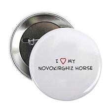 I Love Novokirghiz Horse Button