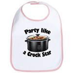 Party Like A Crock Star Bib