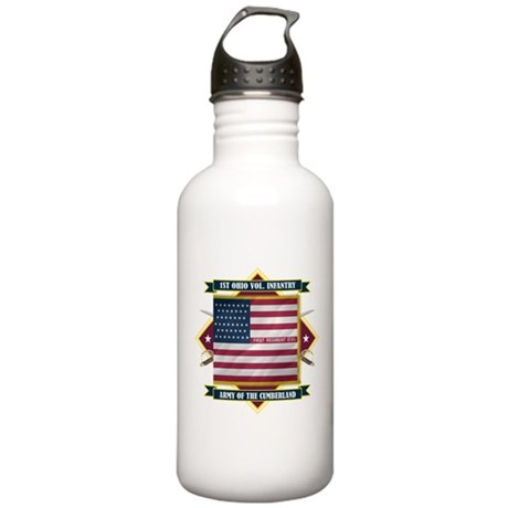 1st Ohio Volunteer Infantry Stainless Water Bottle