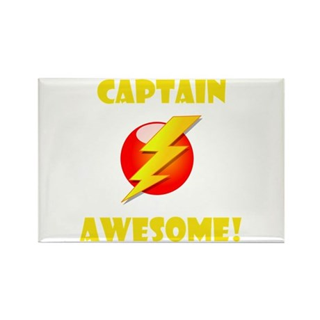 Captain Awesome! Rectangle Magnet (100 pack)