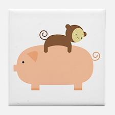 Baby Monkey Tile Coaster