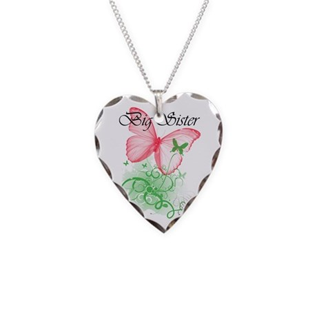 """""""Big Sister"""" Necklace Heart Charm"""