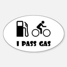 I Pass Gas! Sticker (Oval)