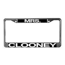 Mrs. Clooney License Plate Frame