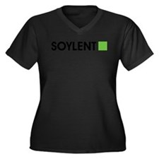 Soylent Women's Plus Size V-Neck Dark T-Shirt