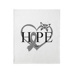 Diabetes Hope Heart Throw Blanket