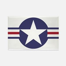 USA Roundel Rectangle Magnet