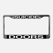 Suicide Doors License Plate Frame
