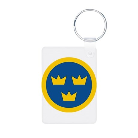 Sweden Roundel Aluminum Photo Keychain
