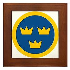 Sweden Roundel Framed Tile