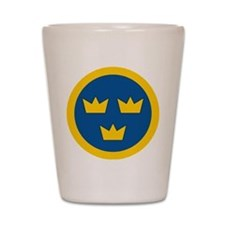 Sweden Roundel Shot Glass