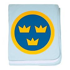 Sweden Roundel baby blanket