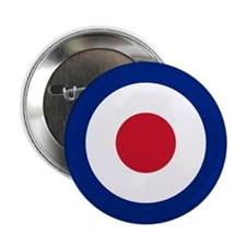 """UK Roundel 2.25"""" Button"""