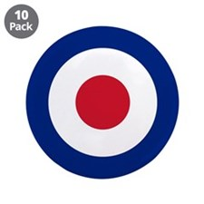 "UK Roundel 3.5"" Button (10 pack)"
