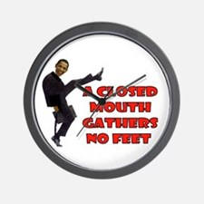 FOOT IN THE MOUTH Wall Clock
