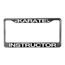 Karate Instructor License Plate Frame
