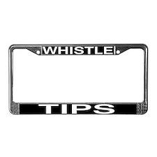 Whistle Tips License Plate Frame
