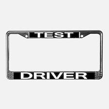 Test Driver License Plate Frame