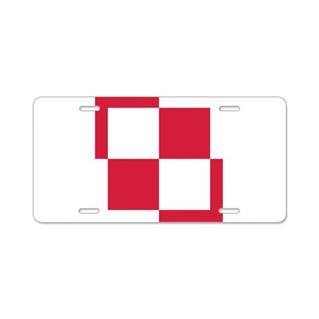 Poland Roundel Aluminum License Plate